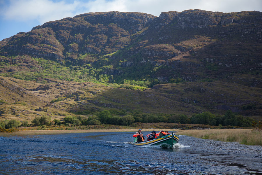 The Eagle's Nest area of the Long Range river connecting Killarney's Upper and Middle lakes
