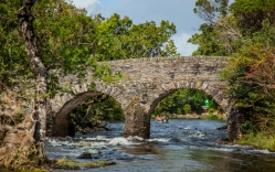 Old Weir Bridge and the Meeting of the waters at Dinis