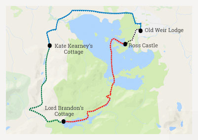 Killarney Day Tour route